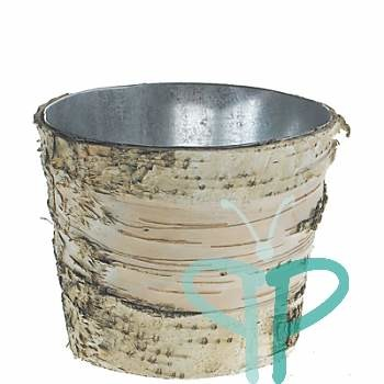 Where to find Tree Bark wrapped Galvanized container, in Tulsa