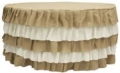Rental store for Ruffled Burlap Tablelinen for 60 rd tabl in Tulsa OK