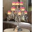 Rental store for Silver Cupcake Stand with hanging crysta in Tulsa OK