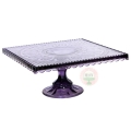 Rental store for Victorian Purple Glass Cake Stand in Tulsa OK