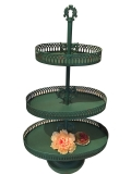 Rental store for Madeline 3 Tier Dessert Tray  teal in Tulsa OK