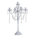 Rental store for 24  white crystal candelabras in Tulsa OK