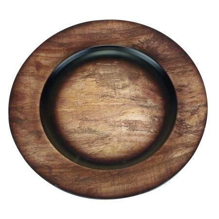 Where to find Wood Grain Charger in Tulsa