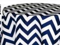 Rental store for 90 rd Navy Blue Chevron Classic Linen in Tulsa OK