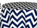 Rental store for 90x156 Navy Blue Chevron Linen in Tulsa OK