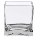 Rental store for glass cube vase, 6 in Tulsa OK