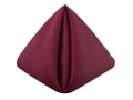 Rental store for Burgundy Matte Satin Dinner Napkin in Tulsa OK