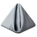Rental store for Silver Matte Satin Dinner Napkin in Tulsa OK