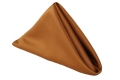 Rental store for Copper Matte Satin Dinner Napkin in Tulsa OK