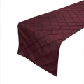 Rental store for Red Pintuck Table Runner in Tulsa OK