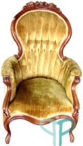 Rental store for Gold Rosewood Parlor Chair II  wooden ar in Tulsa OK