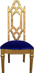 Rental store for Gold Regal high back antique chair in Tulsa OK