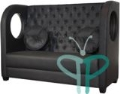 Rental store for Tiara Banquette Sofas, Tufted Black Leat in Tulsa OK