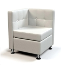 Rental store for Modular White Leather Corner Chair in Tulsa OK