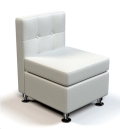 Rental store for Modular White  Leather Armless Chair in Tulsa OK