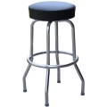 Rental store for 50 s Barstool  Black   Silver in Tulsa OK