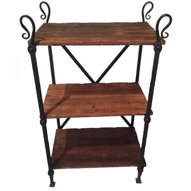 Where to find Iron Crossback Wood Shelves in Tulsa