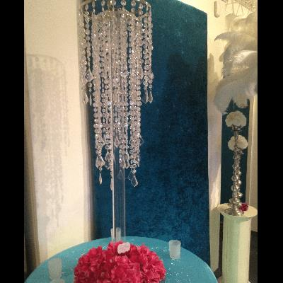Where to find clear acrylic stand for chandeliers, app in Tulsa