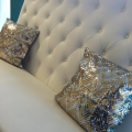 Rental store for Silver Gold Chevron Sequin Pillow Covers in Tulsa OK