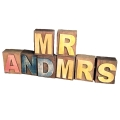 Rental store for MR AND MRS Block letters, per set in Tulsa OK