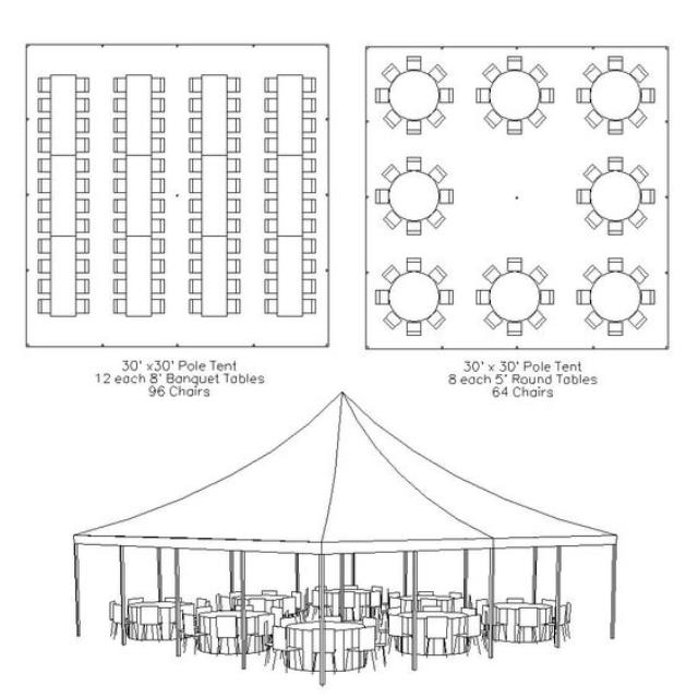 Where to find 30 x30  Pole Tent  no sides in Tulsa