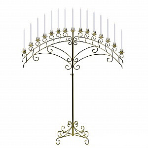 Where to find Gold 15 Branch Fan Candelabra - COPY in Tulsa