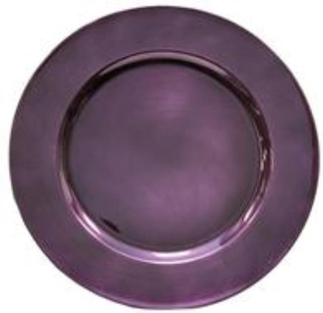 Where to find Plum Acrylic Charger, 13 rd in Tulsa