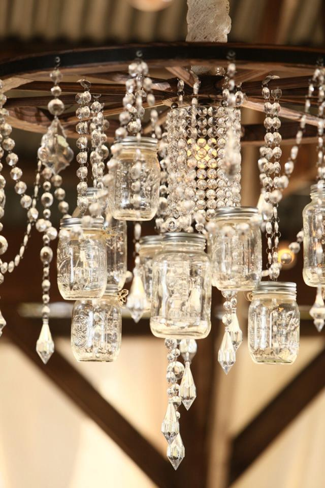Where to find Wagon Wheel Chandelier with Mason Jars in Tulsa