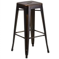 Rental store for Ezra Copper Distressed Bar Stool in Tulsa OK