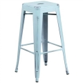 Rental store for Ezra Distressed Blue Bar Stool in Tulsa OK
