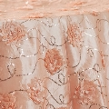 Rental store for 90x90 Blush Flower Sequin Taffeta Linen in Tulsa OK