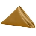Rental store for Gold Matte Satin Dinner Napkin in Tulsa OK
