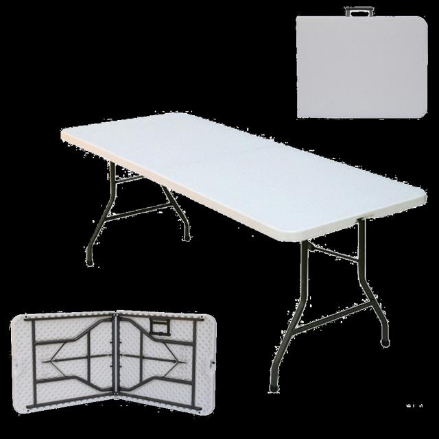 Where to find 5ft Plastic Folding Table  folds in half in Tulsa