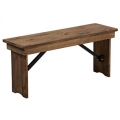 Rental store for Farm Bench, Folding, Solid Pine  seats 2 in Tulsa OK