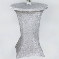 Rental store for Silver Metallic Table Cover for 30  Tall in Tulsa OK