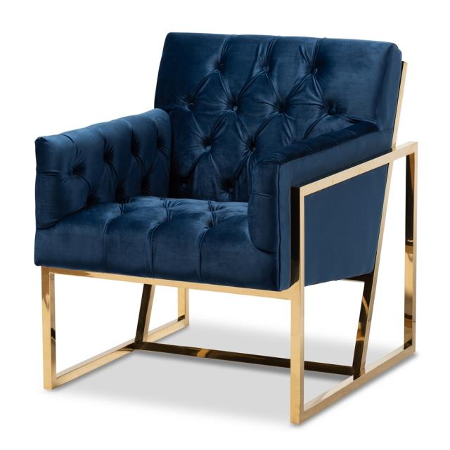 Blue Velvet Accent Chair Als Tulsa