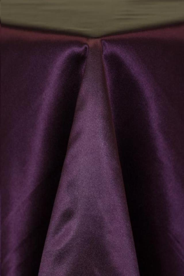 Where to find Plum Satin Linens in Tulsa
