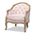 Rental store for Blush French provincial Velvet Arm Chair in Tulsa OK