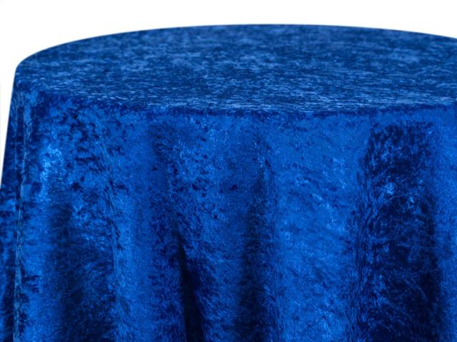 Where to find Royal Blue Crushed Velour Linens in Tulsa