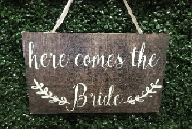 Where to find Here Comes The Bride Sign in Tulsa