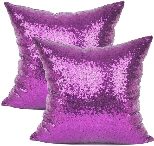 Where to find Purple Sequin Pillow in Tulsa