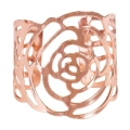 Rental store for Rose Gold Rose Napkin Ring in Tulsa OK