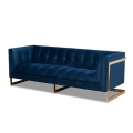 Rental store for Blue Luxe Velvet Sofa in Tulsa OK