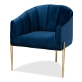 Rental store for Luxe Navy Velvet Side Chair in Tulsa OK