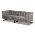 Rental store for Grey Luxe Velvet Sofa in Tulsa OK