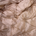 Rental store for Champagne Pinched Taffeta Linens in Tulsa OK